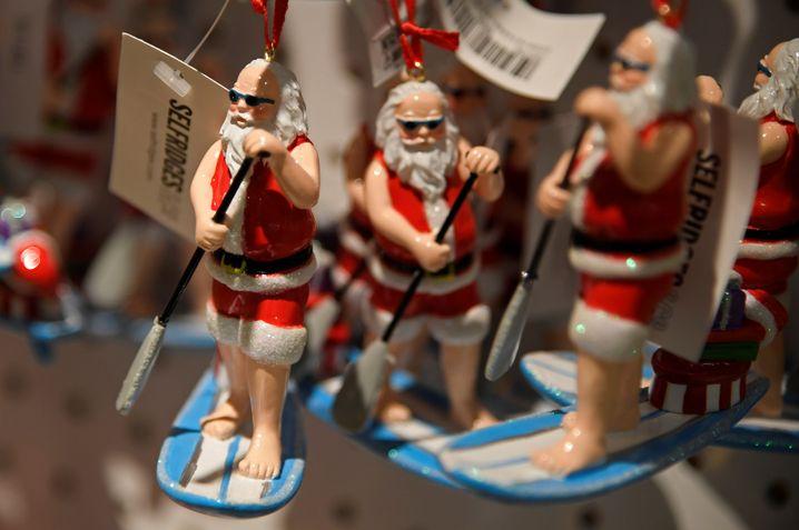 Weihnachten im Hochsommer: Sortiment im Londoner Kaufhaus Selfridges