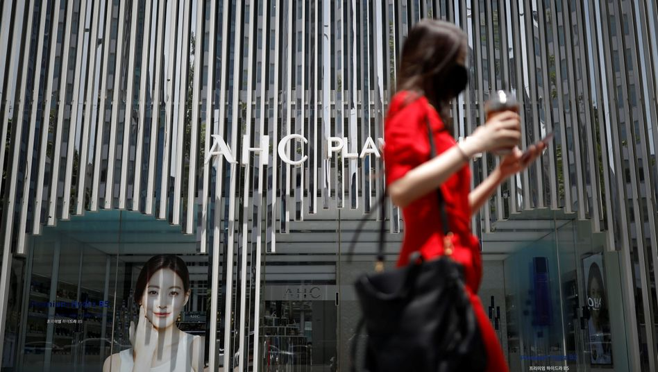 Frau in Seoul, Südkorea: Die Geburtenrate sinkt und sinkt