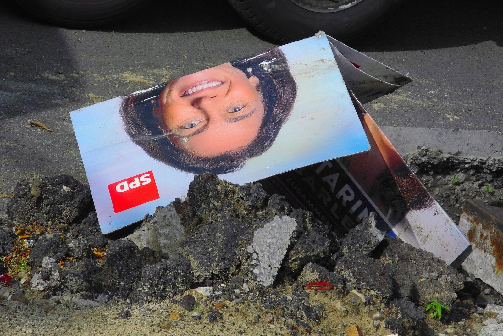 EINMALIGE VERWENDUNG SPD Europawahlplakat