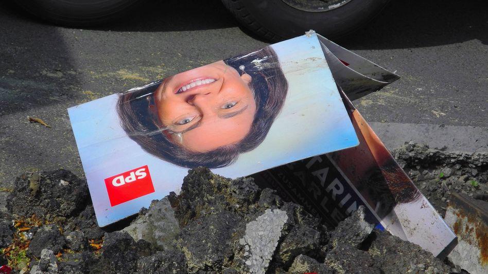 Europawahlplakat am Straßenrand