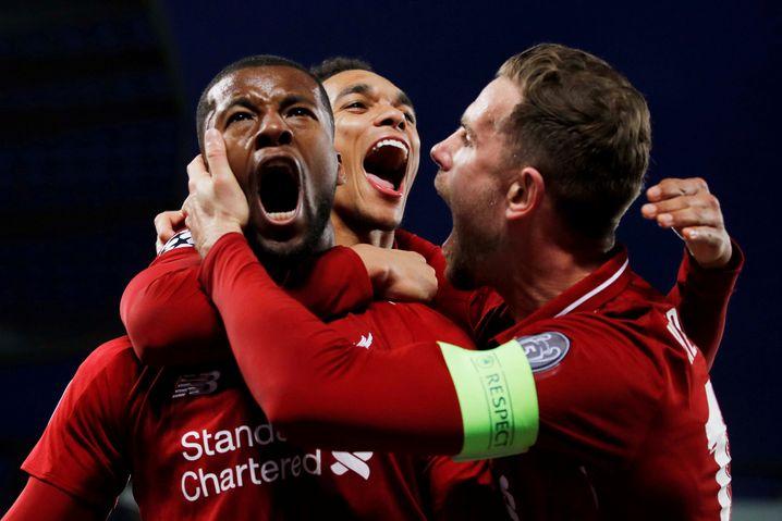 Beim 4:0 des FC Liverpool gegen Barcelona im Mai traf Wijnaldum (l.) doppelt