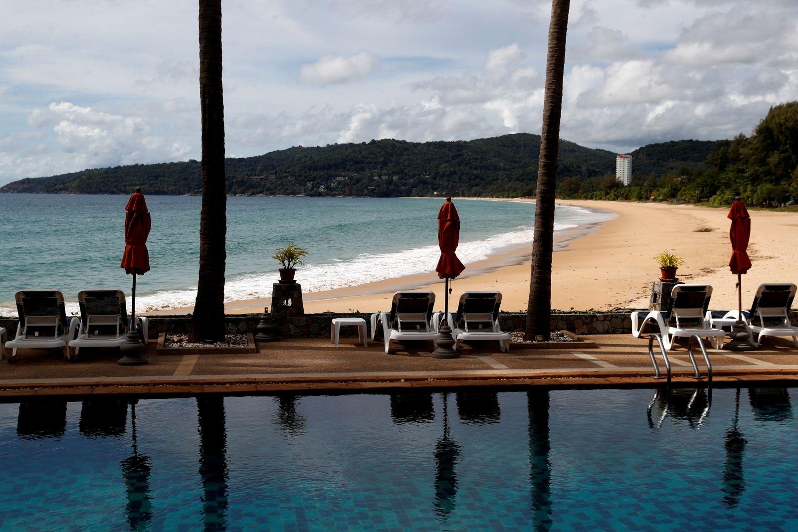 FILE PHOTO: Eerily empty, Thai tourist island Phuket desperate to reopen