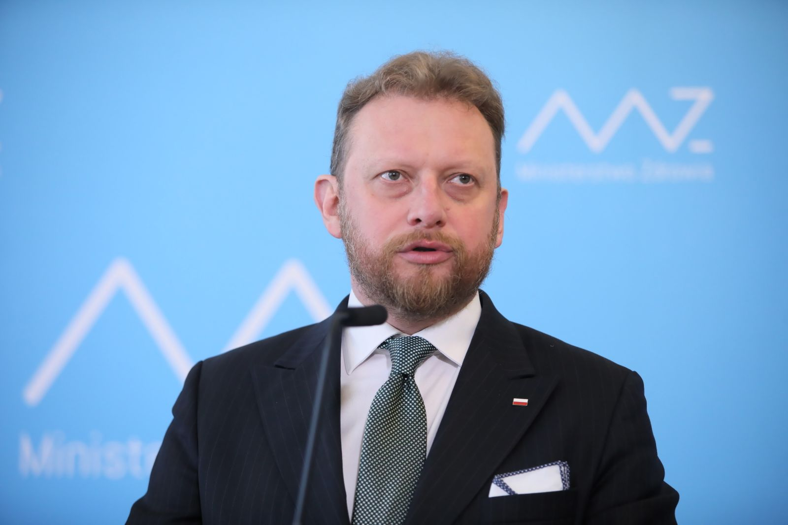 Polish Health Minister Lukasz Szumowski press conference, Warsaw, Poland - 16 Mar 2020