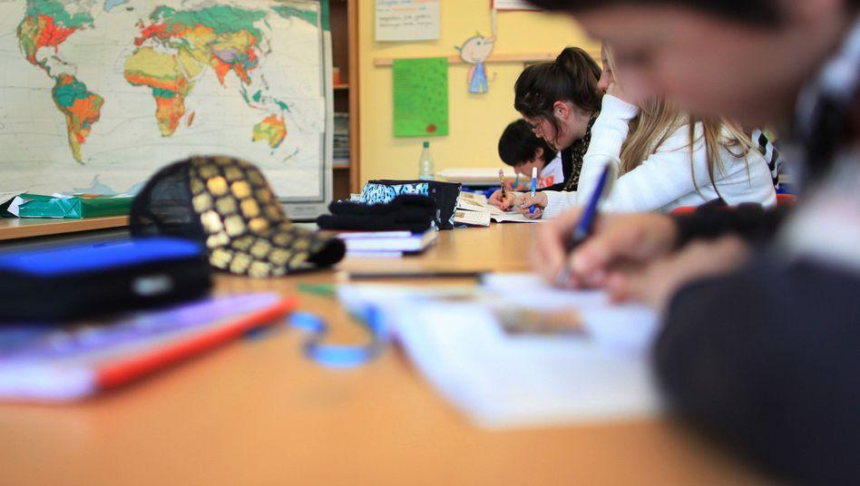 Schüler an einer Hauptschule in Arnsberg
