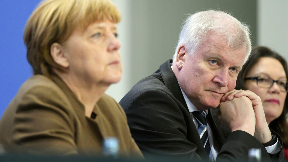 Angela Merkel (links), Horst Seehofer, Andrea Nahles