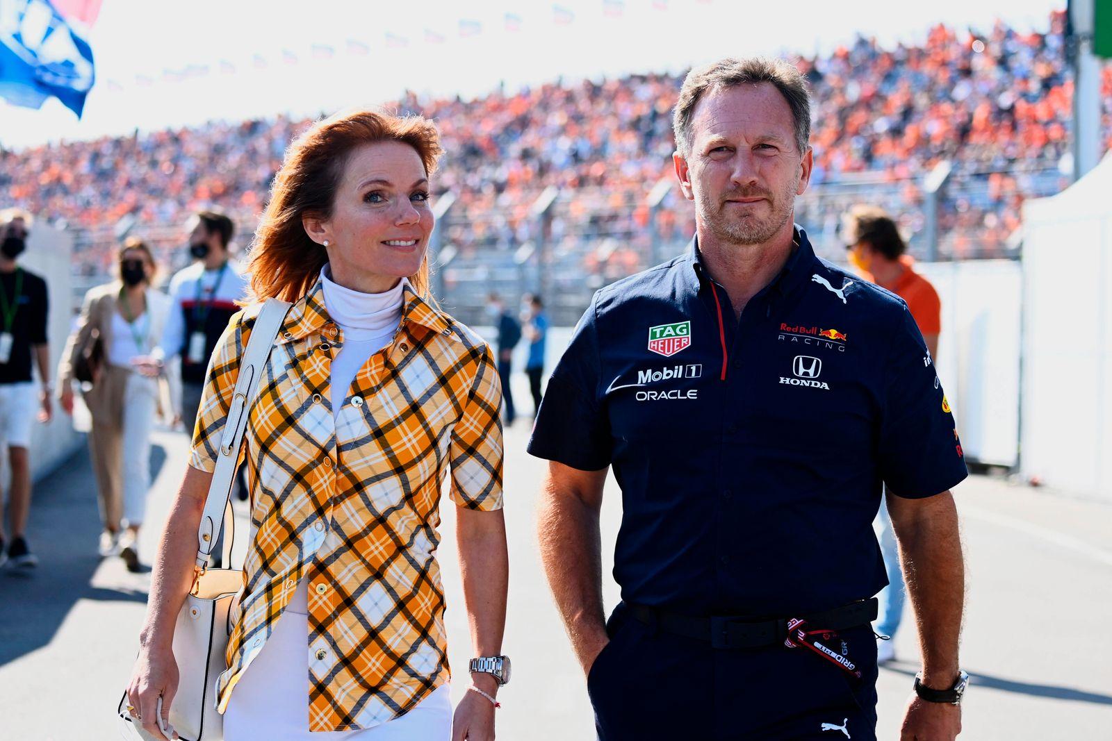 Formula 1 2021: Dutch GP CIRCUIT ZANDVOORT, NETHERLANDS - SEPTEMBER 04: Geri and Christian Horner, Team Principal, Red B
