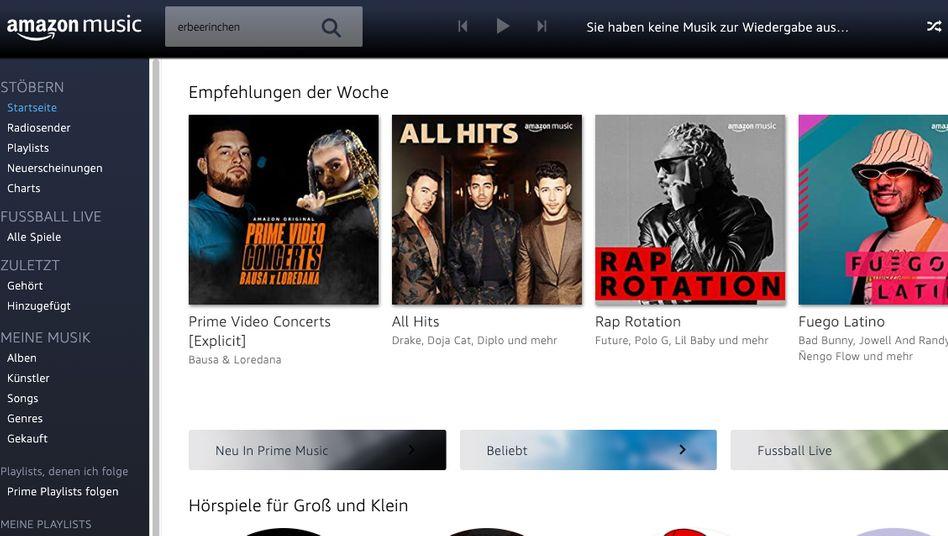 Musikstreaming: Das Abo, das in Prime enthalten ist, kann mit Spotify kaum mithalten
