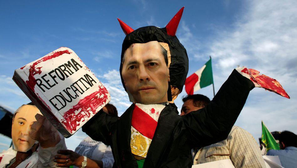 Lehrerdemonstration in Mexiko: Proteste gegen die Bildungsreform