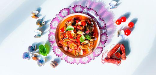 Rezept für Venus-Muscheln mit Chorizo