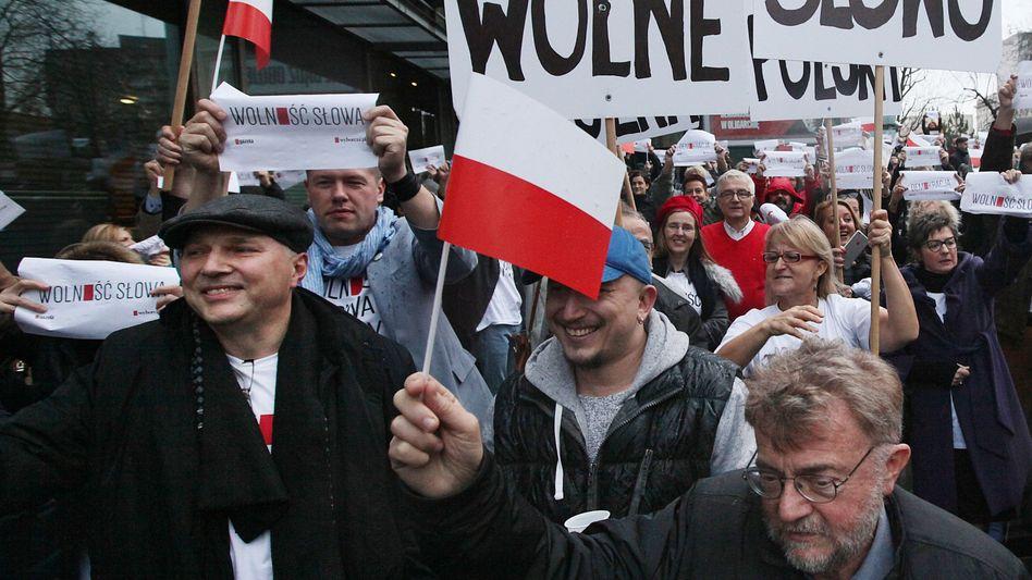 """Journalisten der größten Zeitung, der linksliberalen """"Gazeta Wyborcza"""": Freiheit des Wortes"""