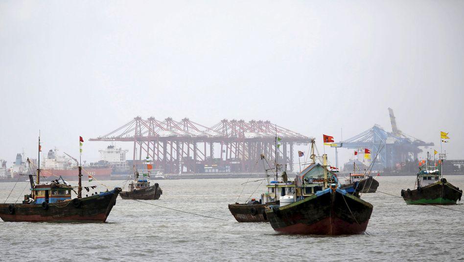 Hafen von Mumbai in Indien