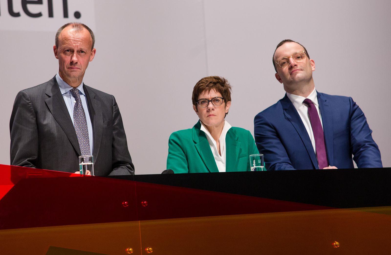 CDU Merz AKK Spahn