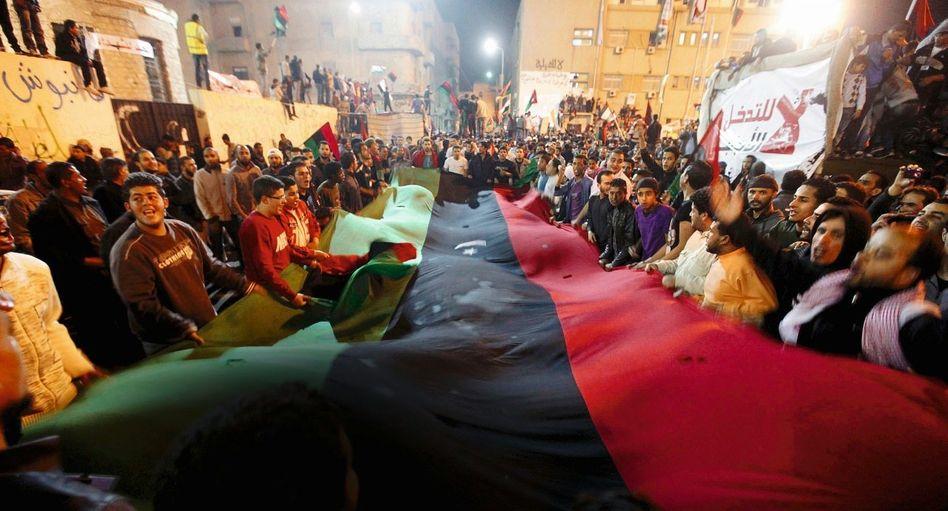Feier nach Uno-Abstimmung in Bengasi