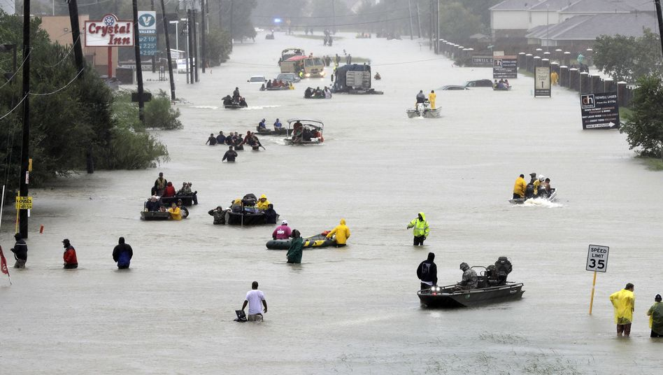 "Tropensturm ""Harvey"" in Texas"