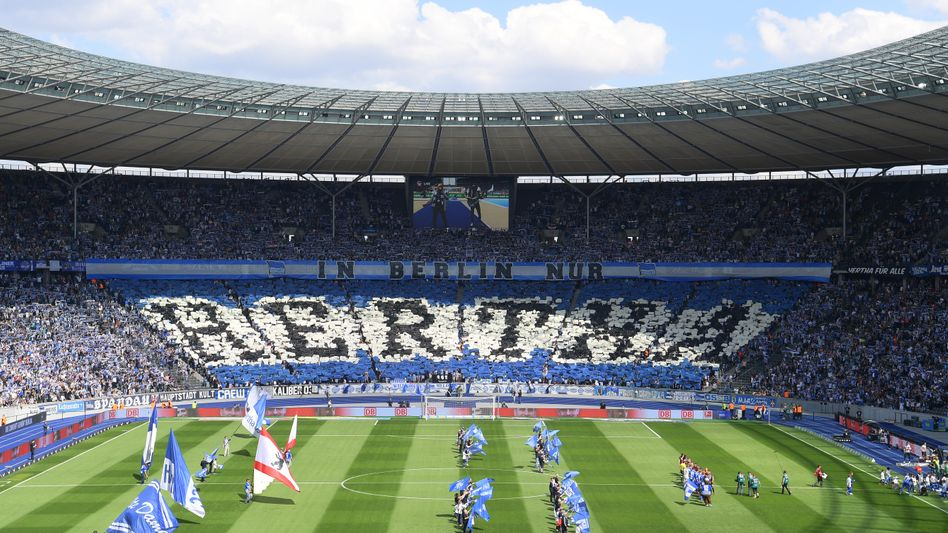 Hertha-Fans im Berliner Olympiastadion