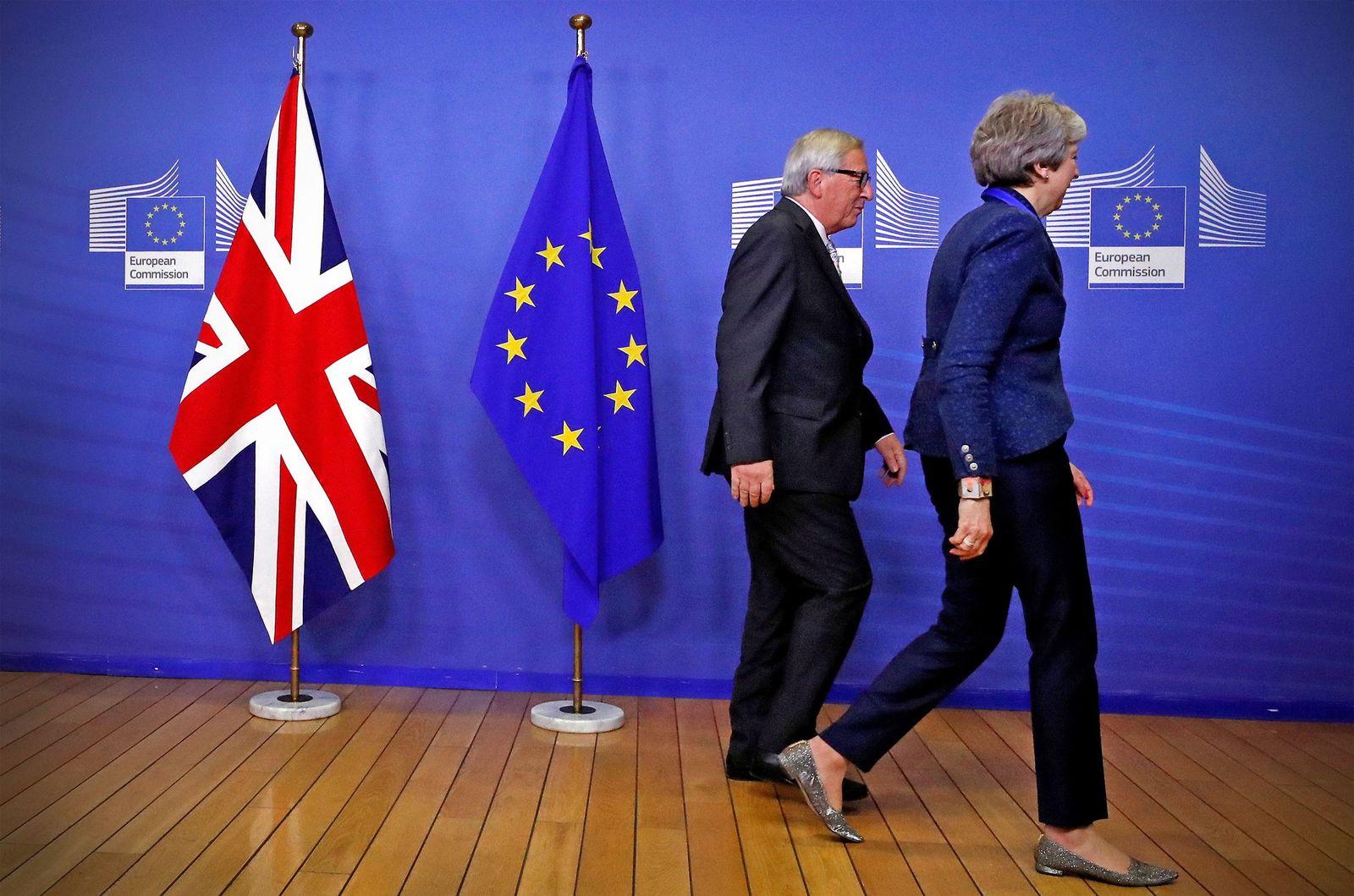 EU/ Britain/ Brexit/ Theresa May/ Jean-Claude Juncker