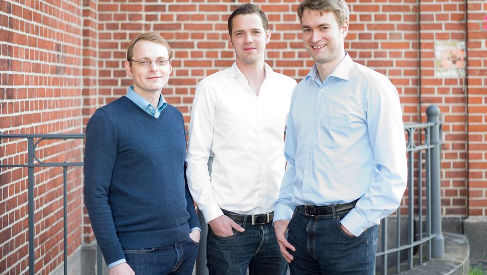 Tinnitracks-Erfinder Adrian Nötzel, Jörg Land und Matthias Lanz (v.l.): Nach Texas musste Land allein reisen