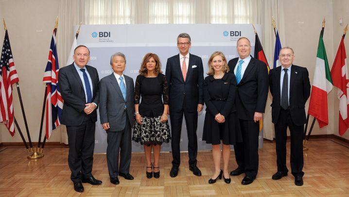 Für TTIP, gegen Kohle-Aus: Die Chefs führender Wirtschaftsverbände in der G7
