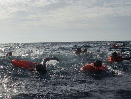 Bootsflüchtlinge im Mittelmeer 2017