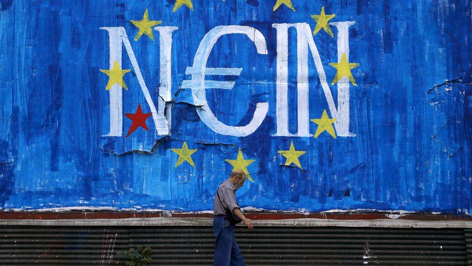 Anti-EU-Graffito in Athen: Das Europa der Egoisten