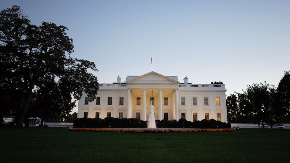 A group of German diplomats met American officials in the White House on Wednesday evening.