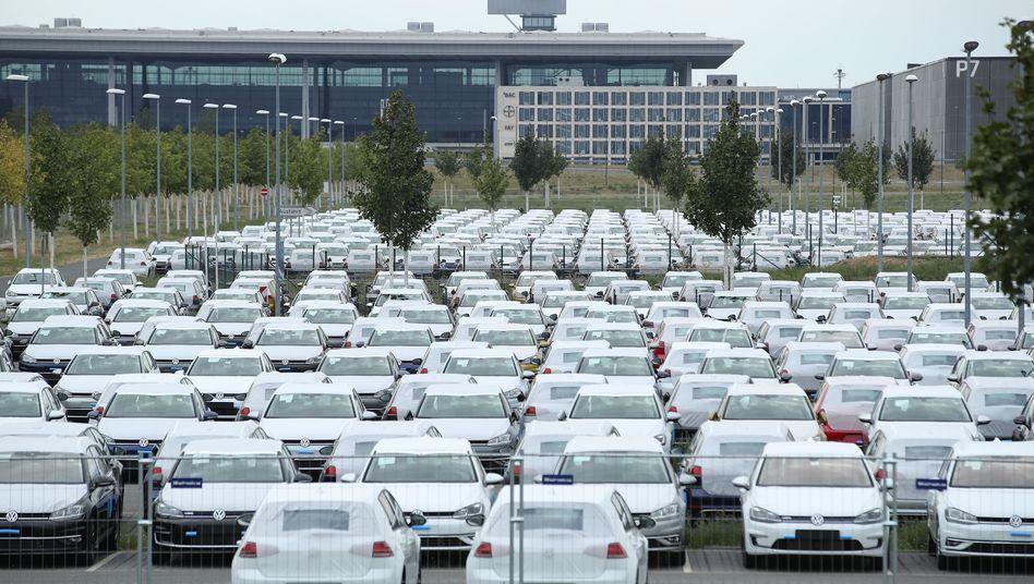 VW-Diesel auf dem Gelände des BER