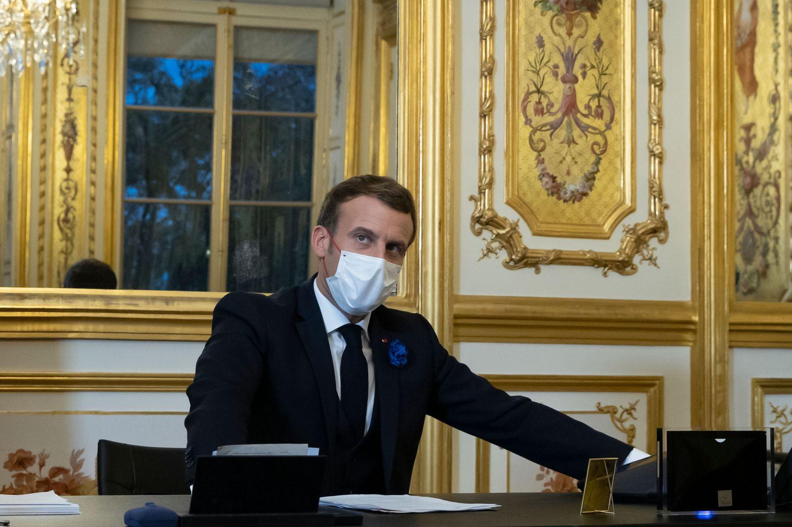 French President Macron congratulates US president elect Biden, Paris, France - 01 Jan 2000
