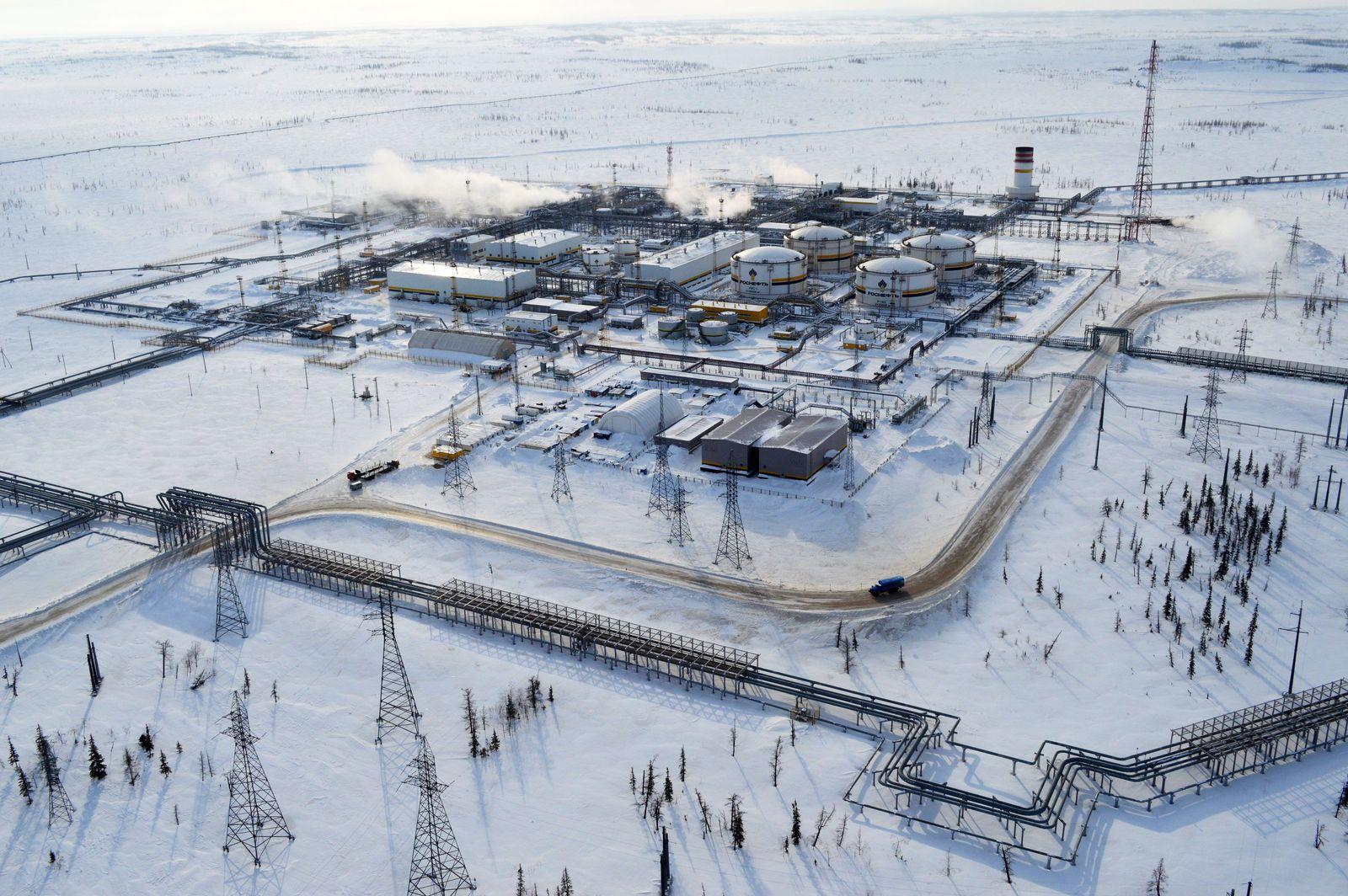 EINMALIGE VERWENDUNG Russland Ölfeld Sibirien