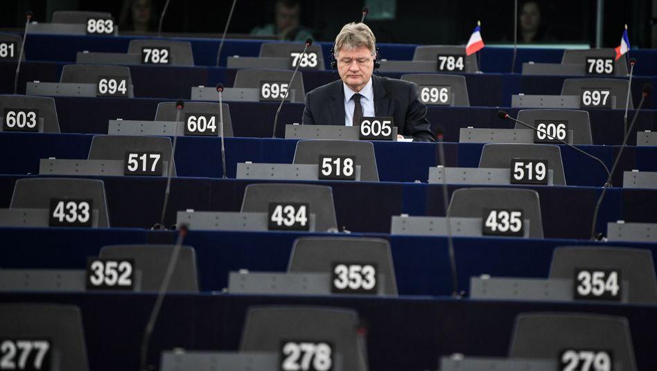 AfD-Chef Jörg Meuthen (im Europaparlament in Straßburg):