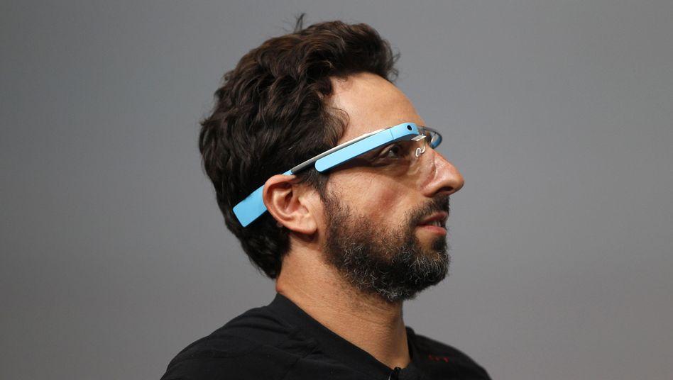 Google-Gründer Sergej Brin mit Google Glass: Verleihen verboten?