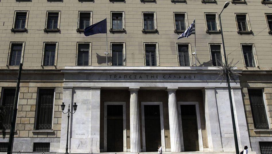 Notenbank-Zentrale in Athen: Griechische Märkte leiden unter Ungewissheit