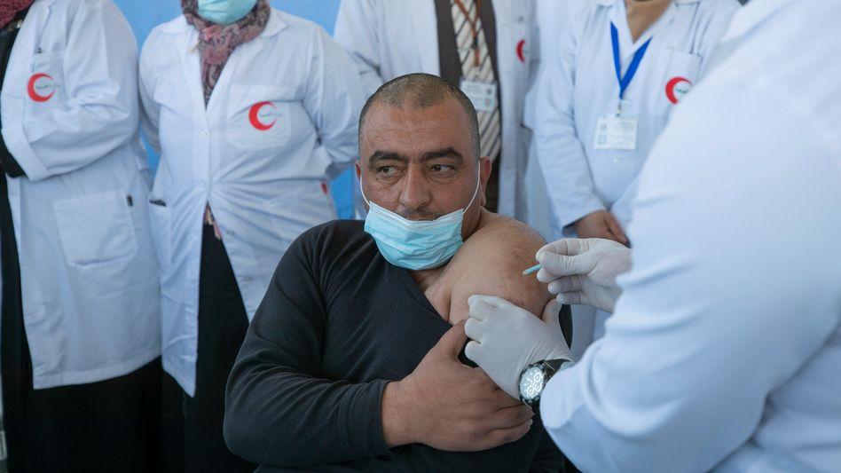 Ist nun geimpft: ein Palästinenser in Bethlehem