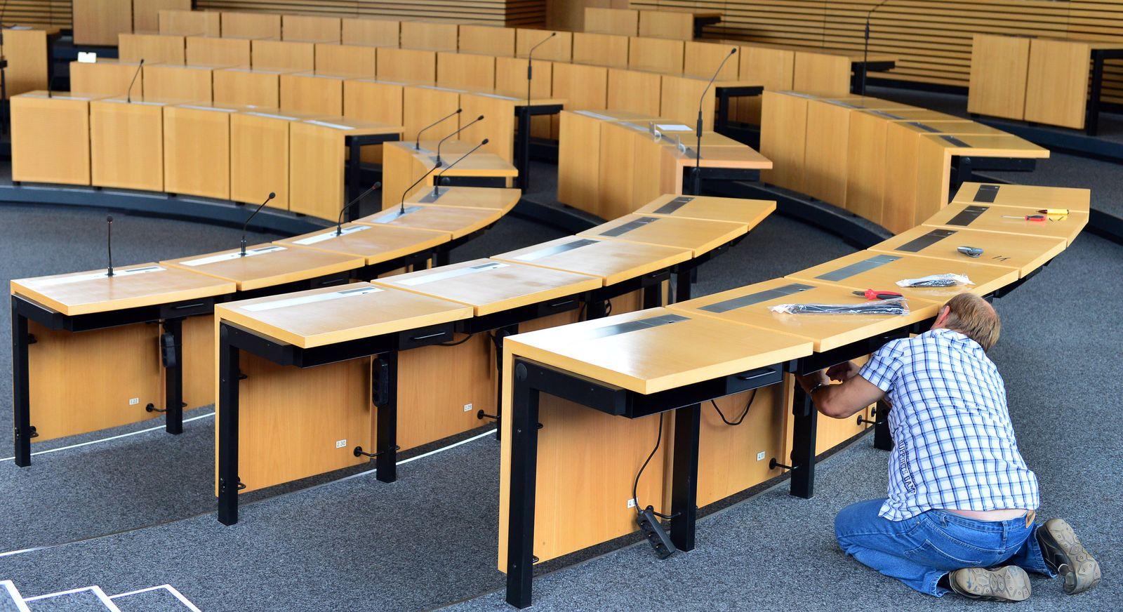 Plenarsaal im Thüringer Landtag