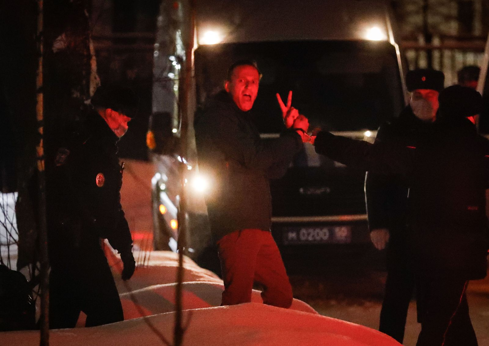 Russian opposition leader Alexei Navalny arrest, Moscow, Russian Federation - 18 Jan 2021