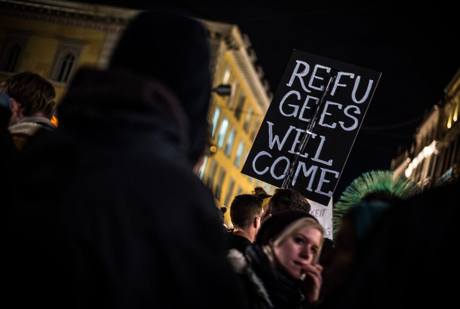Demonstration gegen Pegida/München