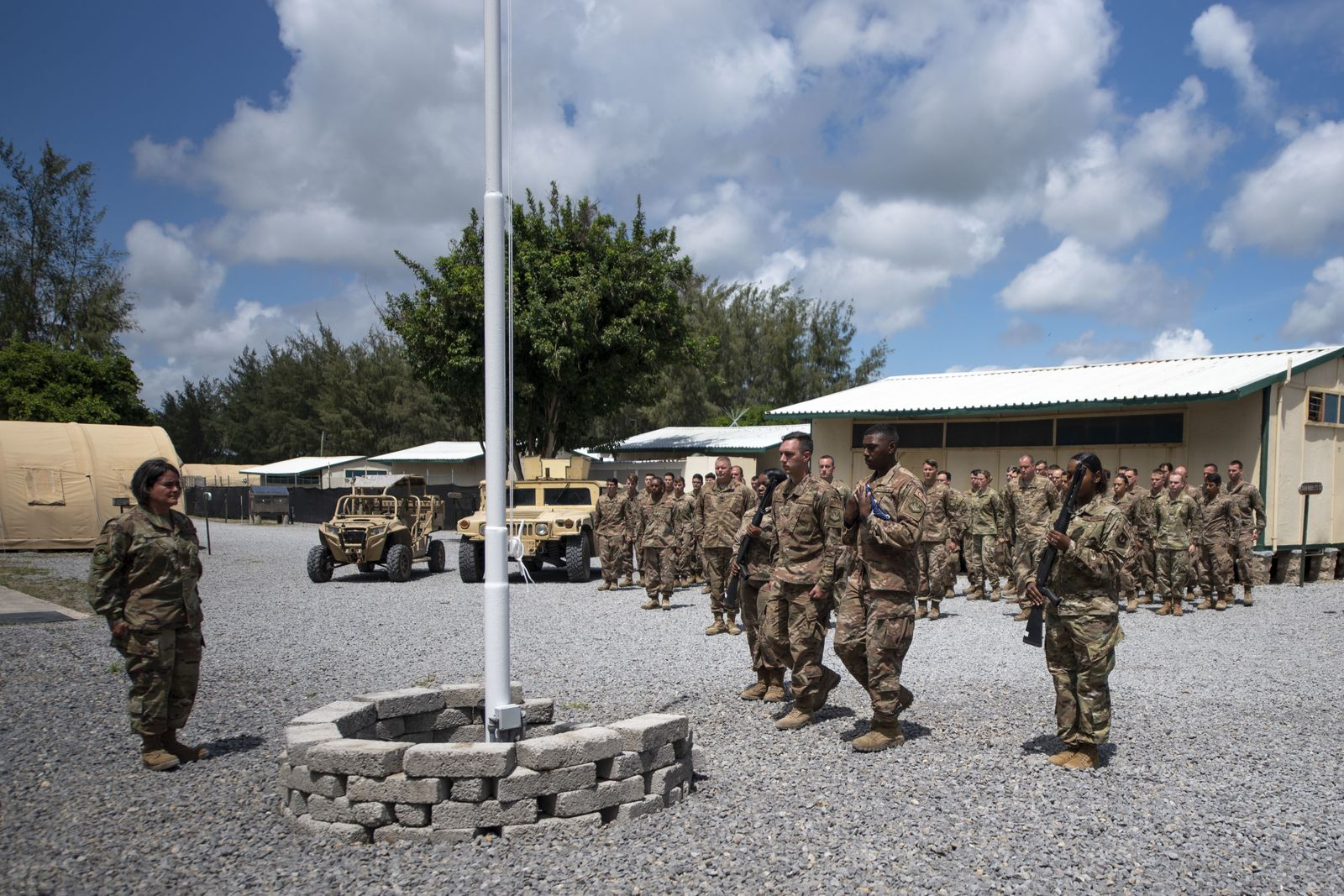 Al Shabaab militia attack US military base Camp Simba in Kenya, Lamu - 26 Aug 2019