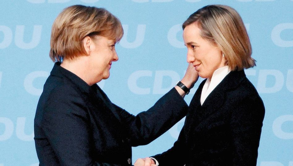Parteifreundinnen Merkel, Schröder: »Ich will kein Leitbild vorleben«