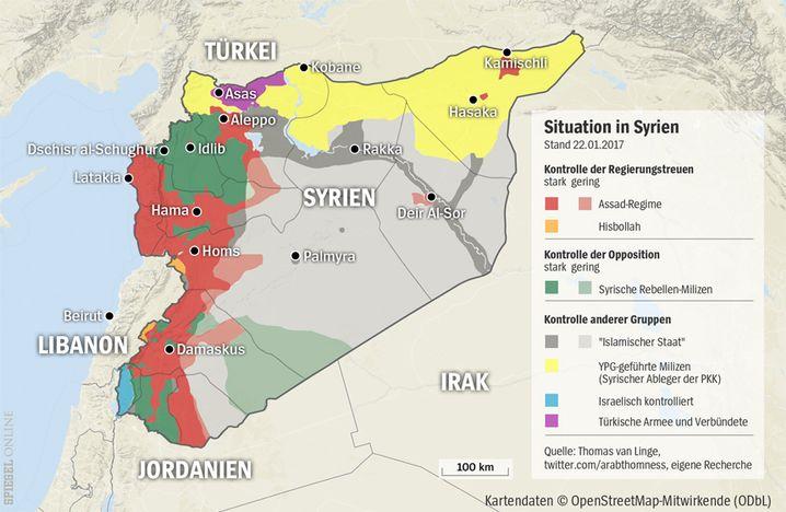 Machtverhältnisse in Syrien