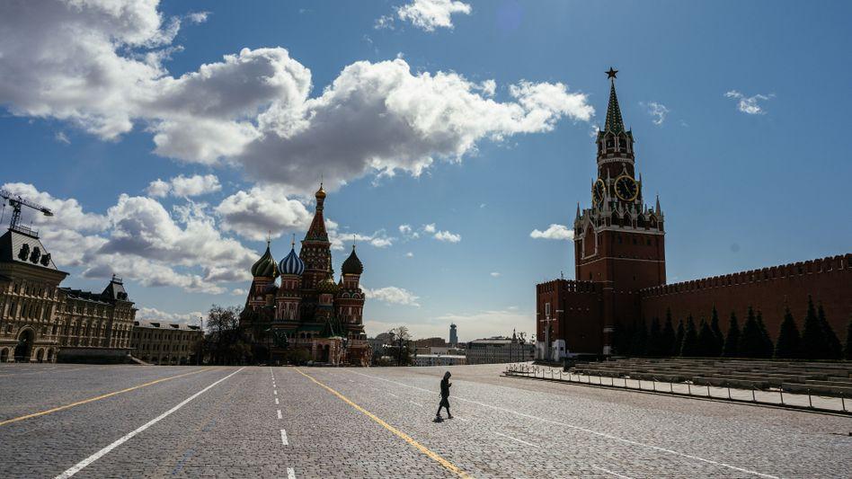 Verwaister Roter Platz: In Russland gibt es so viele nachgewiesene Neuinfektionen wie in keinem anderen Land