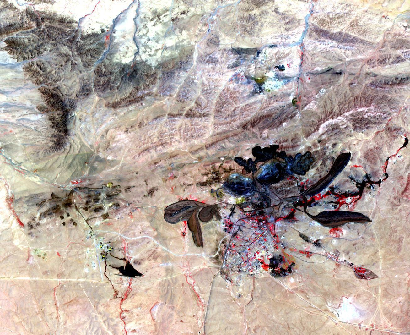 Satbild der Woche / Baiyun Ebo / Mongolei / WISSENSCHAFT