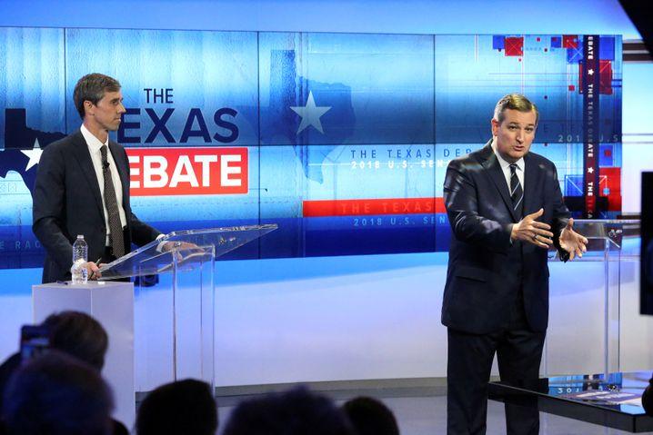 Beto O'Rourke und Ted Cruz