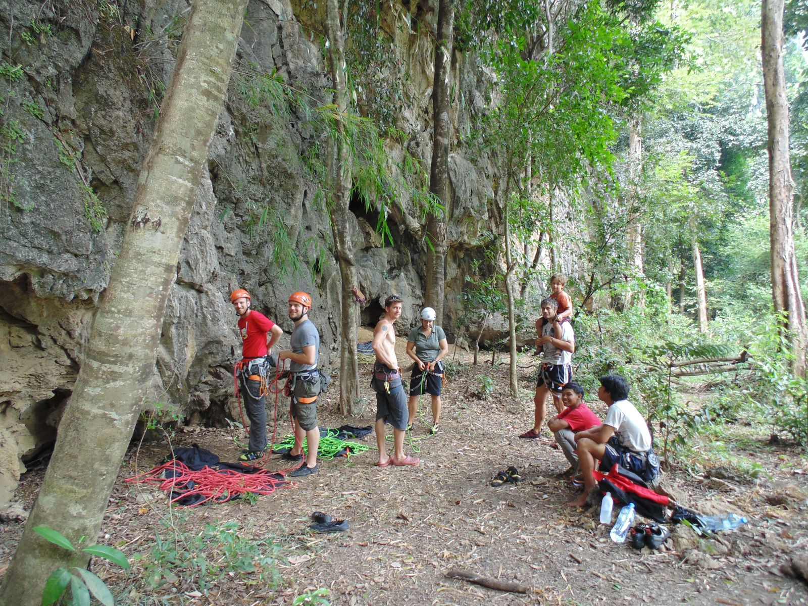 2013-10-11_Uli gibt Kletterkurs für Gäste