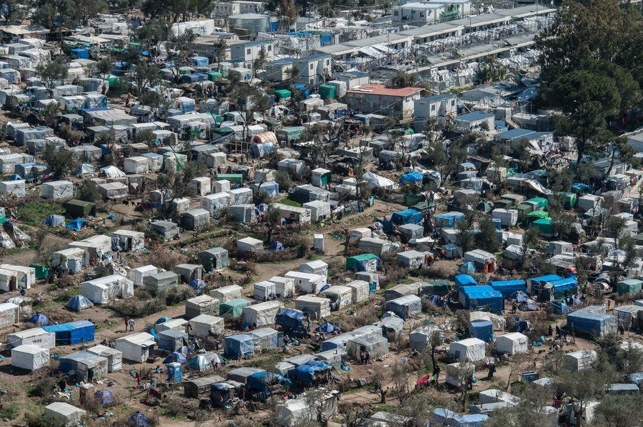 20.000 Menschen in Zelten: Elendslager Moria auf Lesbos