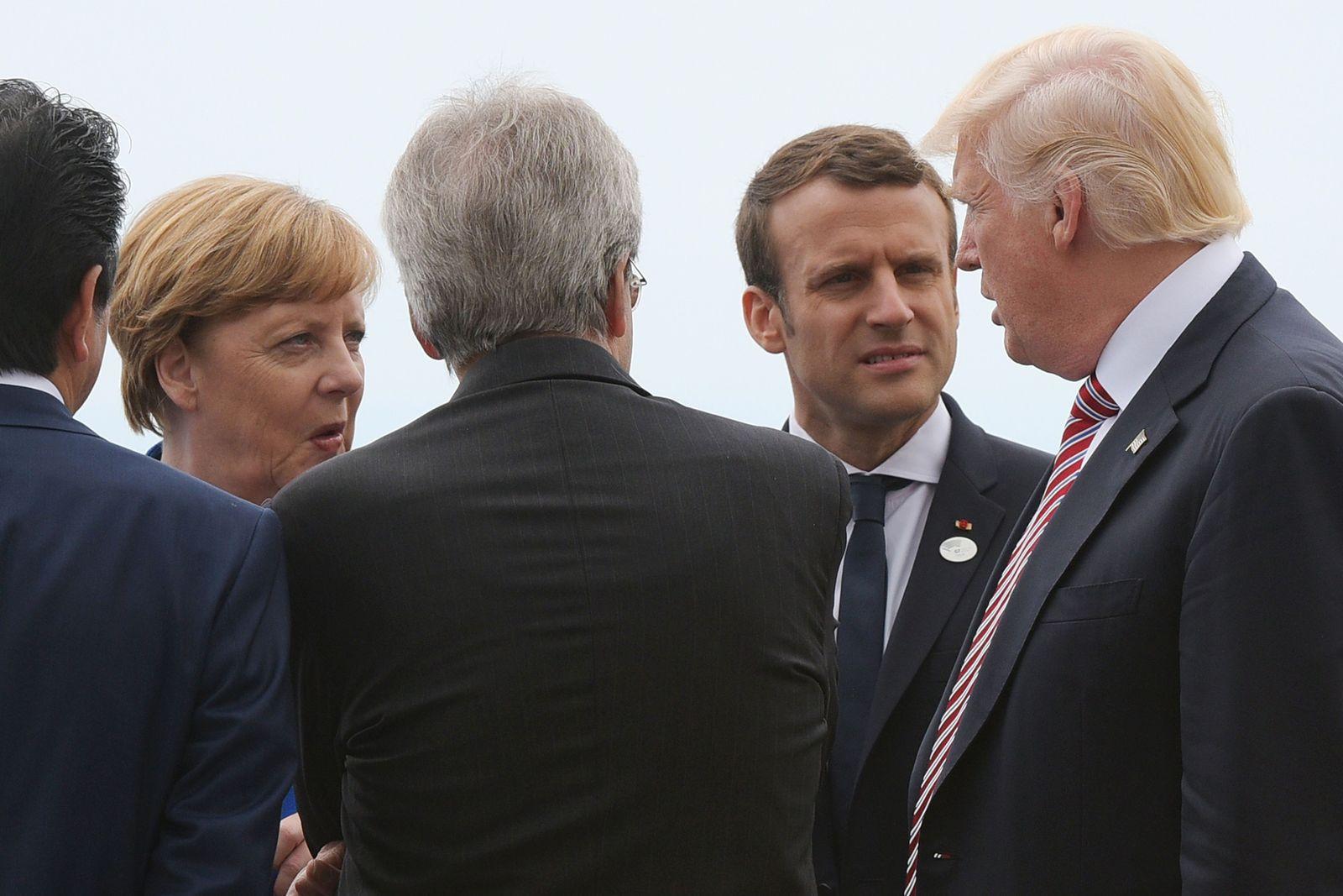 Merkel / Macron/ Trump