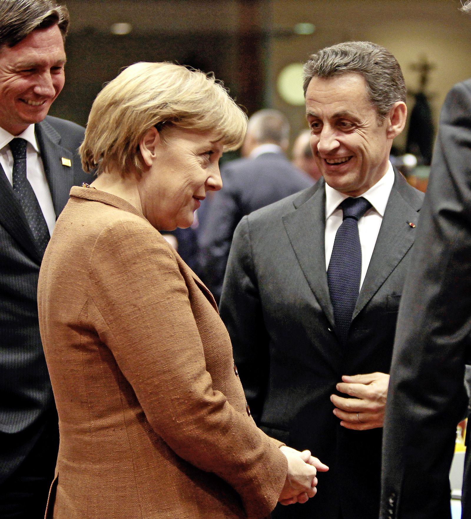 Gipfel / Merkel / Sarkozy