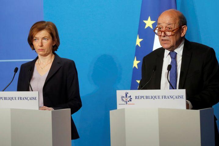 Frankreichs Verteidigungsministerin Parly (links) und Außenminister Le Drian
