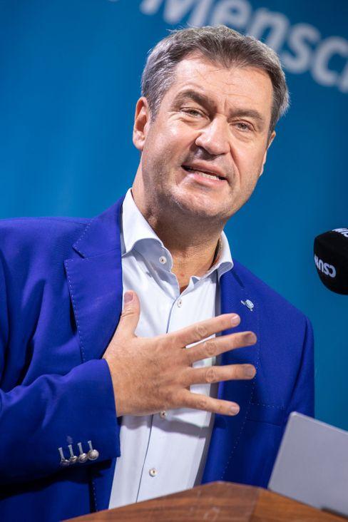 Im Wahlkampfmodus: CSU-Chef Markus Söder