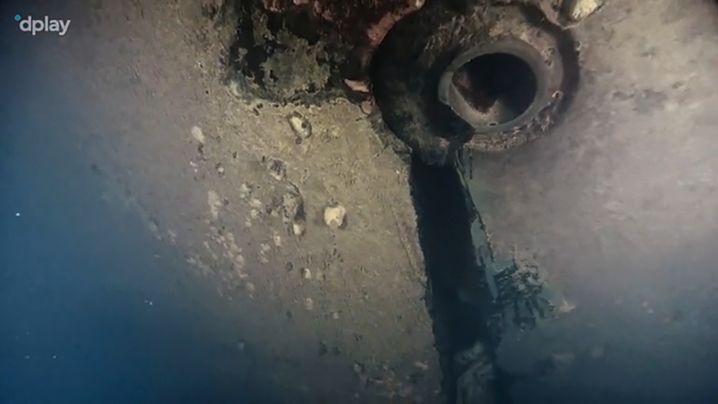 """Die Dokumentation """"Estonia - Der Fund, der alles verändert"""" soll ein Loch im Rumpf des gesunkenen Schiffes zeigen"""