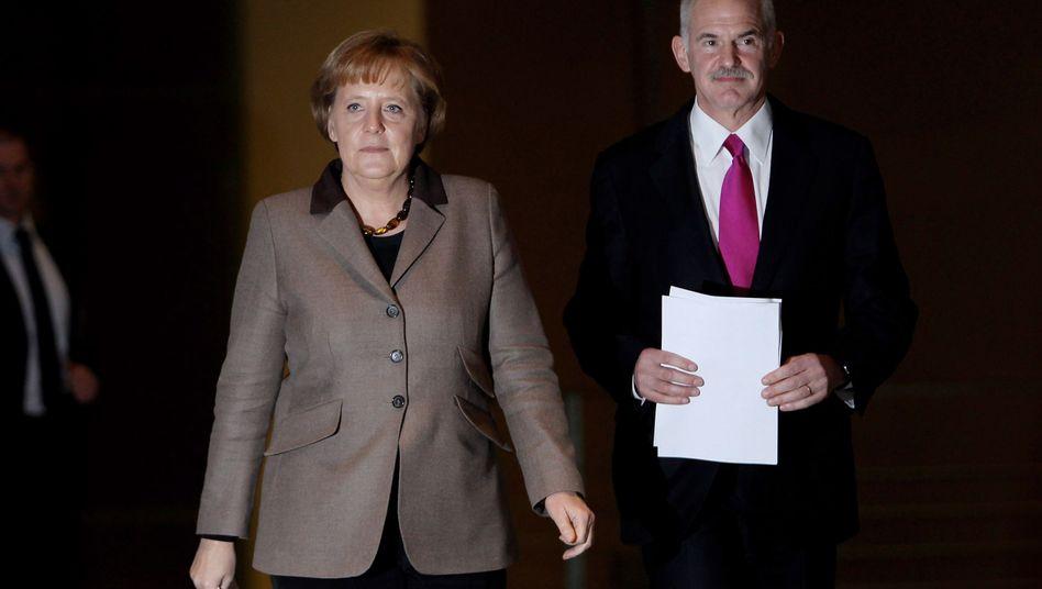 """Merkel mit dem griechischen Ministerpräsident Papandreou: Hilfe wirklich """"alternativlos""""?"""