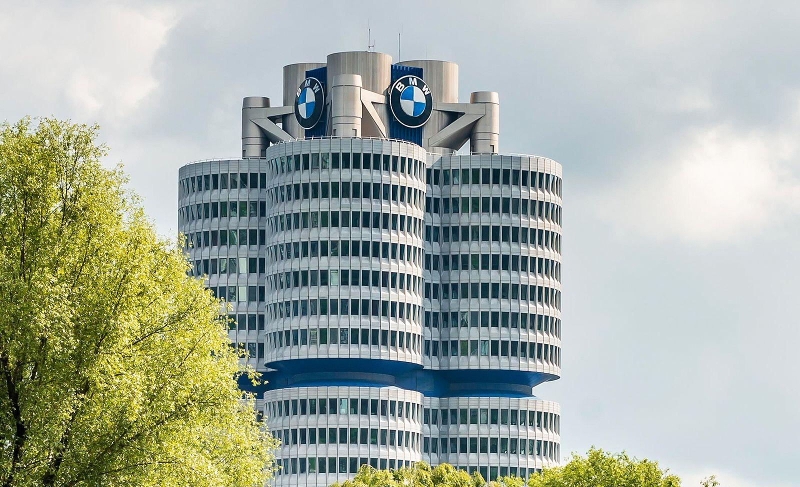 BMW-Vierzylinder, Olympiagel‰nde, M¸nchen, Oberbayern, Bayern, Deutschland, Europa *** BMW four-cylinder, Olympic site,